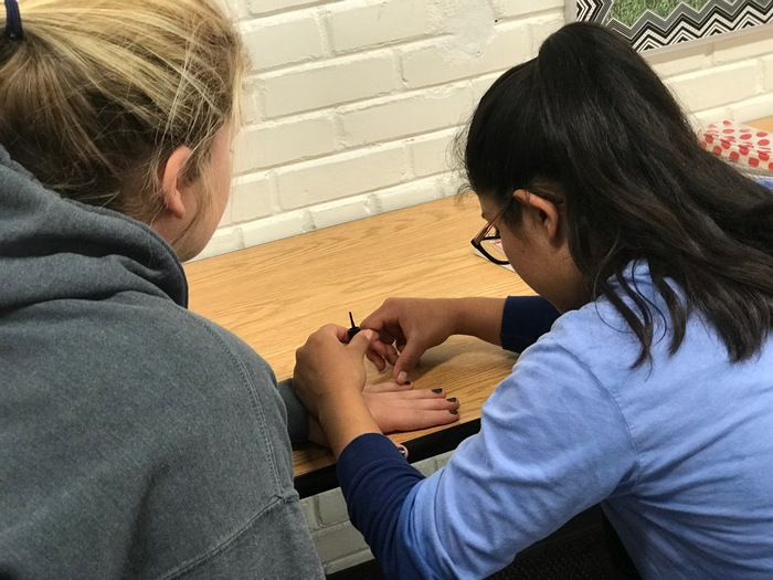 students doing nails