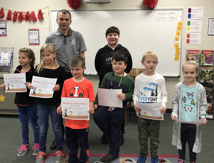 Elementary students of the week