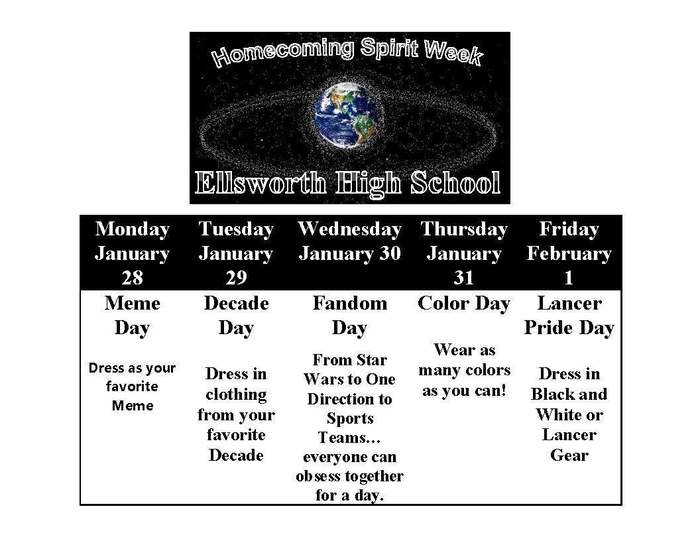 high school spirit week