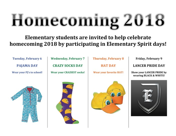 Elementary Homecoming Spirit Days
