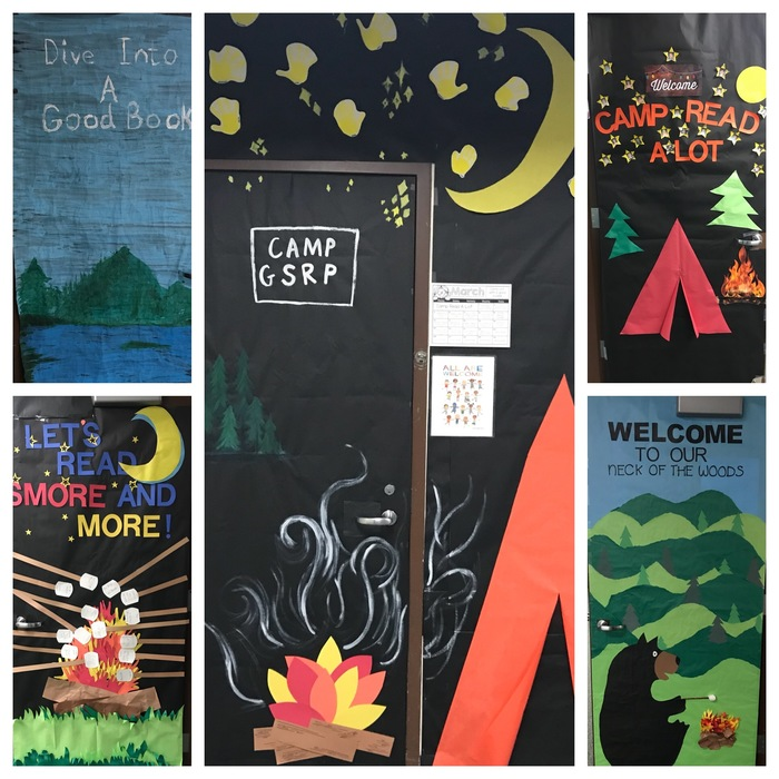 March is Reading Month doors