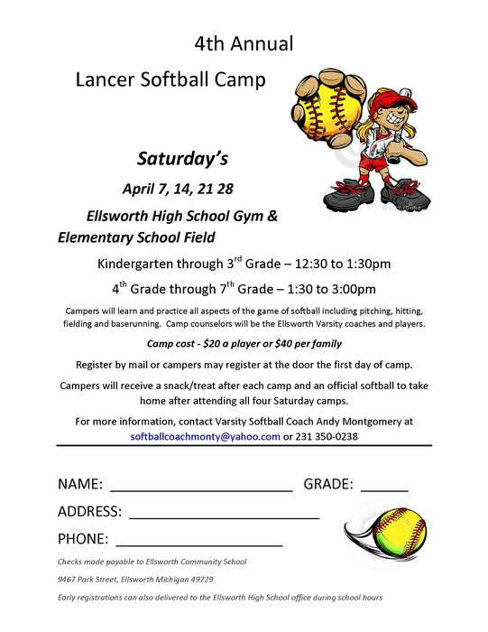 softball flyer