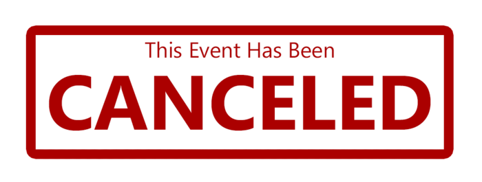 events cancelled